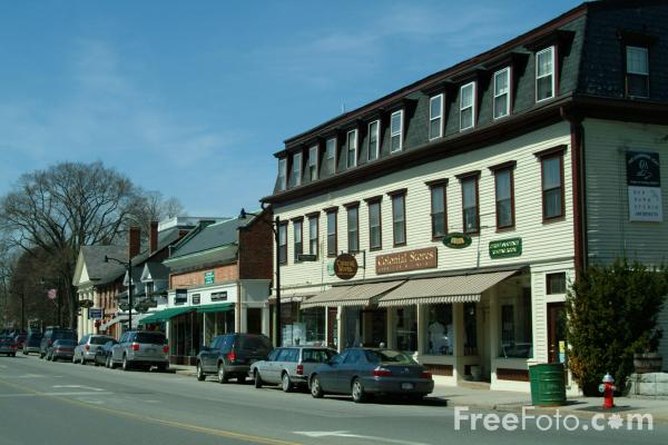 Picture of Main Street, Concord, Massachusetts - Free Pictures - FreeFoto.com