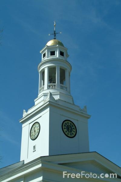 Picture of First Parish in Concord, Massachusetts - Free Pictures - FreeFoto.com