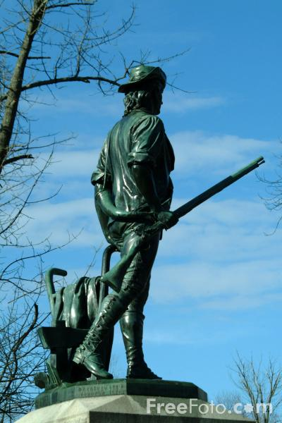 Picture of The Concord Minuteman Statue, Massachusetts, USA - Free Pictures - FreeFoto.com