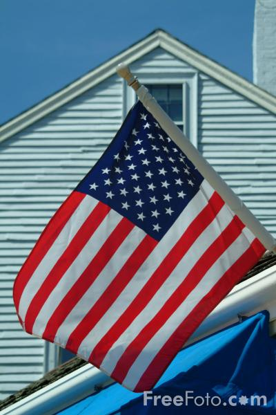 Picture of American Flag, Rockport, Massachusetts, USA - Free Pictures - FreeFoto.com