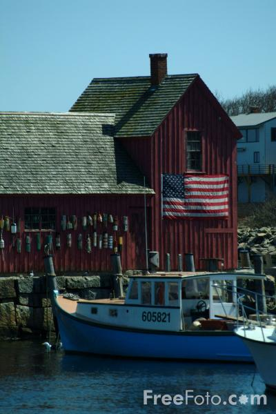 Picture of The classic Motif #1 at Rockport, Massachusetts, USA - Free Pictures - FreeFoto.com