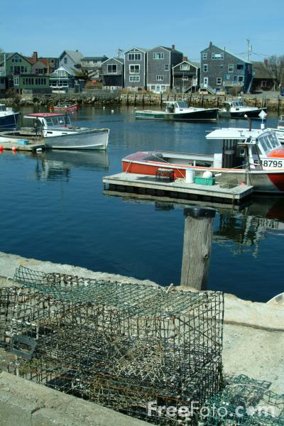 Picture of Rockport Harbor, Rockport, Massachusetts, USA - Free Pictures - FreeFoto.com