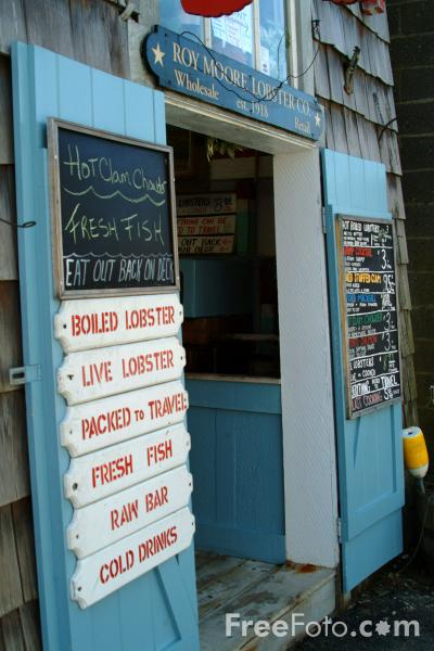 Picture of Fresh Fish Shop Rockport, Massachusetts, USA - Free Pictures - FreeFoto.com