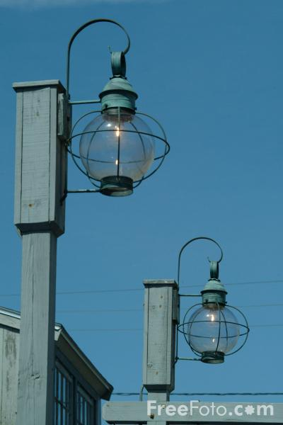 Picture of Street Lamp, Rockport, Massachusetts, USA - Free Pictures - FreeFoto.com