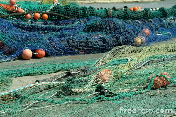 Picture of Fishing Nets, Gloucester, Massachusetts, USA - Free Pictures - FreeFoto.com