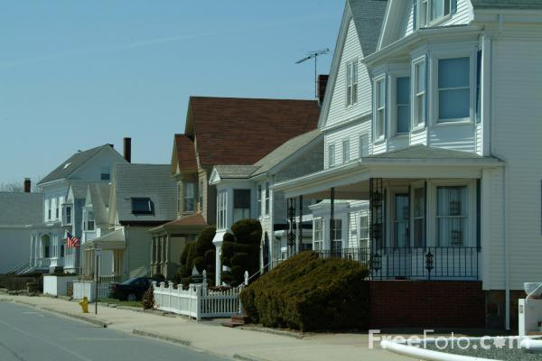 Picture of Houses, Waterfront, Gloucester, Massachusetts, USA - Free Pictures - FreeFoto.com