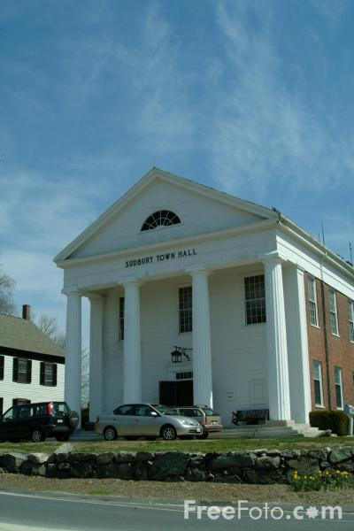 Picture of Sudbury Town Hall, Massachusetts, USA - Free Pictures - FreeFoto.com