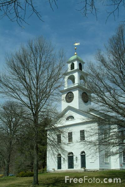 Picture of First Parish of Sudbury church, Massachusetts, USA - Free Pictures - FreeFoto.com