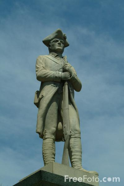 Picture of Statue, Tribute of Sudbury to her revolutionary Patriots, Massachusetts, USA - Free Pictures - FreeFoto.com