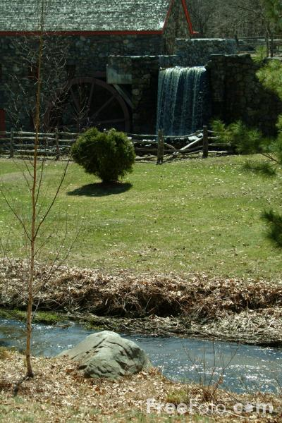 Picture of Logfellows Wayside Inn Grist Mill, Sudbury, Massachusetts, USA - Free Pictures - FreeFoto.com