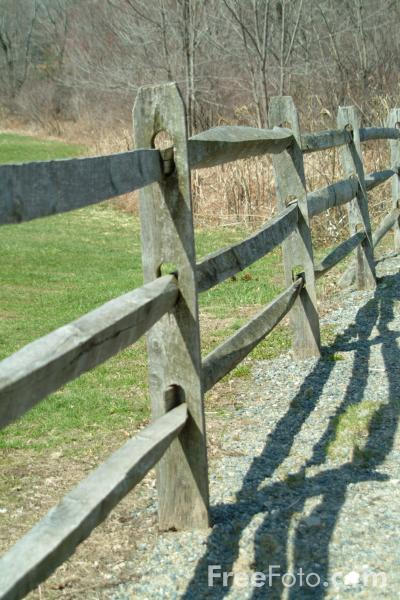 Picture of Wooden Fence, Sudbury, Massachusetts, USA - Free Pictures - FreeFoto.com