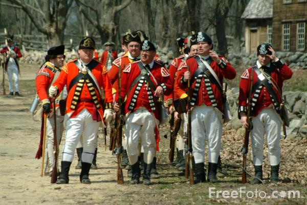 Picture of The British Regulars 0n The Battle Road, Massachusetts, USA - Free Pictures - FreeFoto.com