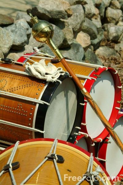 Picture of The British Regulars Drums, The Battle Road, MA, USA - Free Pictures - FreeFoto.com