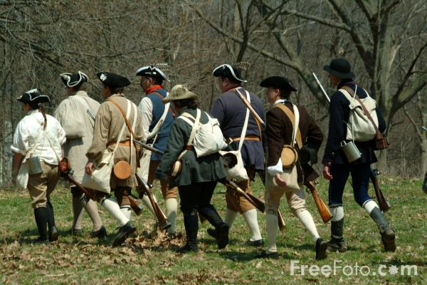 Picture of Militia 0n The Battle Road, Massachusetts, USA - Free Pictures - FreeFoto.com
