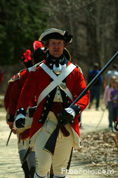 Picture of British Regulars , Battle Road, Massachusetts, USA - Free Pictures - FreeFoto.com