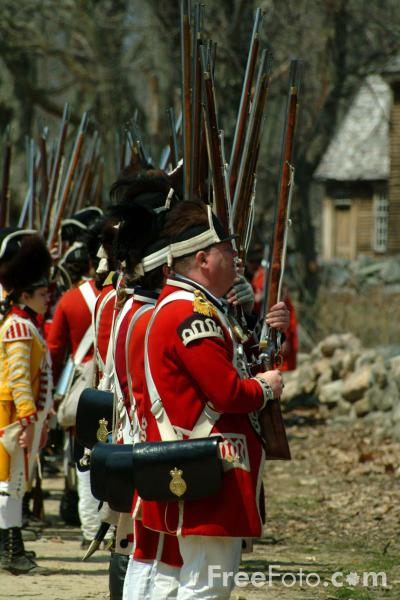 Picture of British Regulars, Battle Road, Massachusetts, USA - Free Pictures - FreeFoto.com