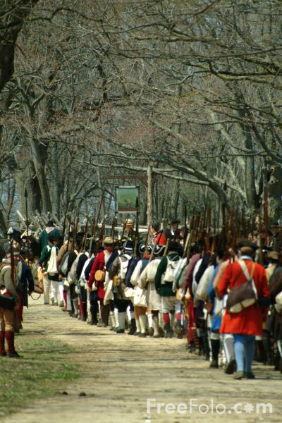 Picture of The Militia, Battle Road, Massachusetts, USA - Free Pictures - FreeFoto.com