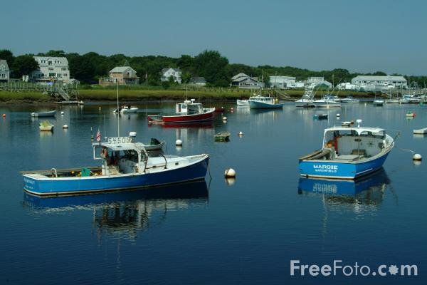 Picture of Fishing Boats, Green Harbor, Massachusetts - Free Pictures - FreeFoto.com