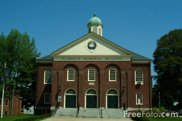 Picture of Plymouth Memorial Building, Plymouth, Massachusetts - Free Pictures - FreeFoto.com