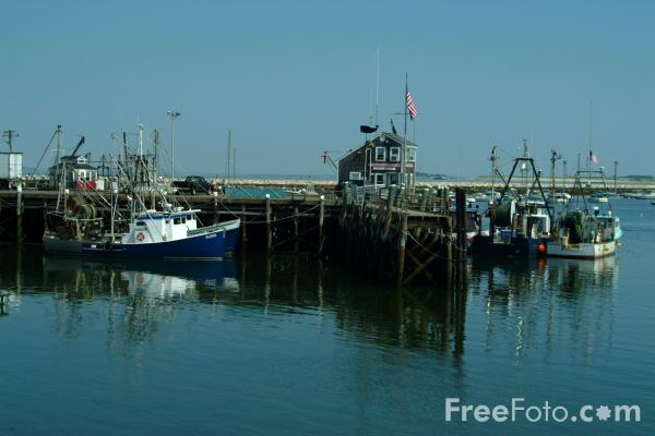 Picture of Fishing Boats, Plymouth Harbor, Massachusetts - Free Pictures - FreeFoto.com