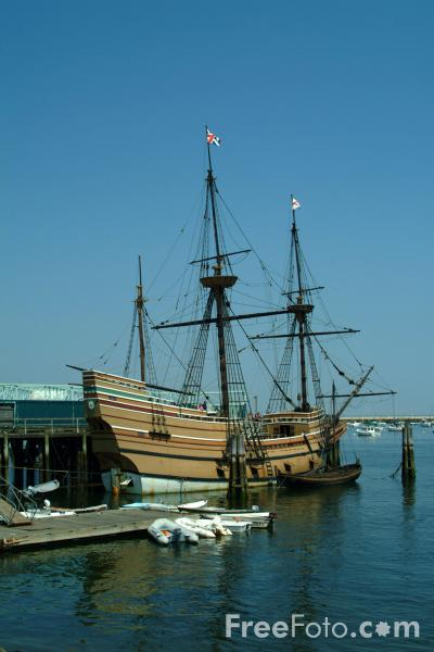 Picture of The Mayflower, Plymouth, Massachusetts - Free Pictures - FreeFoto.com
