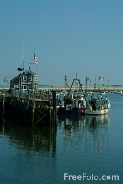 Fishing Boats Plymouth Harbor Massachusetts Pictures