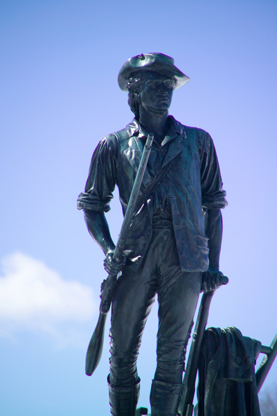 Picture of The Concord Minuteman Statue, Concord, Massachusetts, USA - Free Pictures - FreeFoto.com