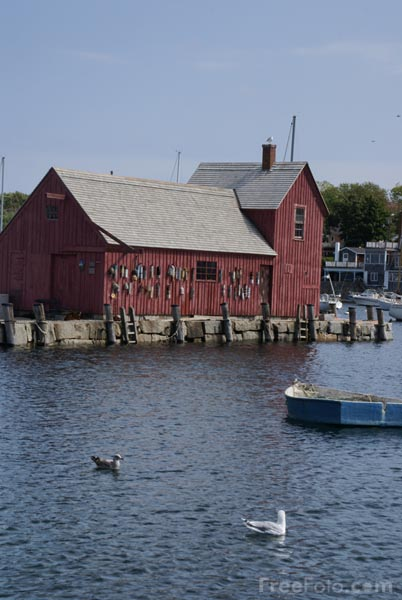 Picture of Motif #1, Bradley Wharf, Rockport, Massachusetts, USA - Free Pictures - FreeFoto.com