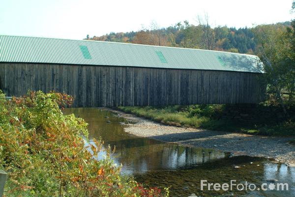 Picture of Lincoln Covered Bridge - The only Pratt Arch in Vermont - Free Pictures - FreeFoto.com