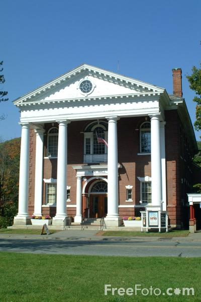 Picture of Woodstock Town Hall, Vermont - Free Pictures - FreeFoto.com