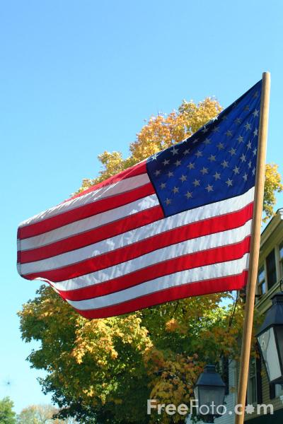 Picture of Stars and Stripes, Woodstock, Vermont - Free Pictures - FreeFoto.com