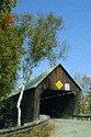Image Ref: 1213-03-87 - Lincoln Covered Bridge spanning the Ottauquechee River, 3 miles west of Woodstock Village, Vermont, Viewed 6556 times