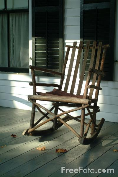 Picture of Rocking Chair, President Calvin Coolidge State Historic Site, Plymouth Notch, Vermont - Free Pictures - FreeFoto.com