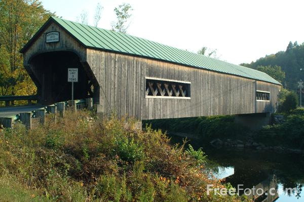 Picture of Bartonsville Covered Bridge, Vermont - Free Pictures - FreeFoto.com