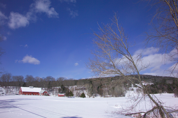 Picture of Quechee Village in Winter, Vermont, New England, USA - Free Pictures - FreeFoto.com
