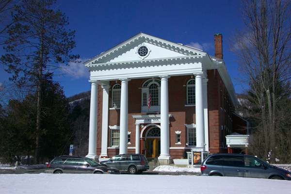 Picture of Historic Town Hall Theatre, Woodstock, Vermont, New England, USA - Free Pictures - FreeFoto.com