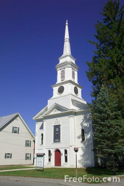 Picture of United Church of South Royalton, Vermont, New England, USA - Free Pictures - FreeFoto.com