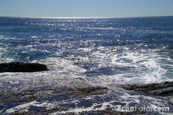 Picture of Seascape, Casco Bay, Cape Elizabeth, Maine - Free Pictures - FreeFoto.com