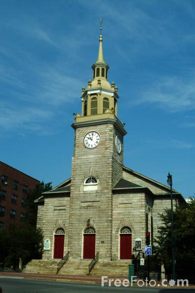 Picture of The First Parish in Portland, Maine, USA - Free Pictures - FreeFoto.com