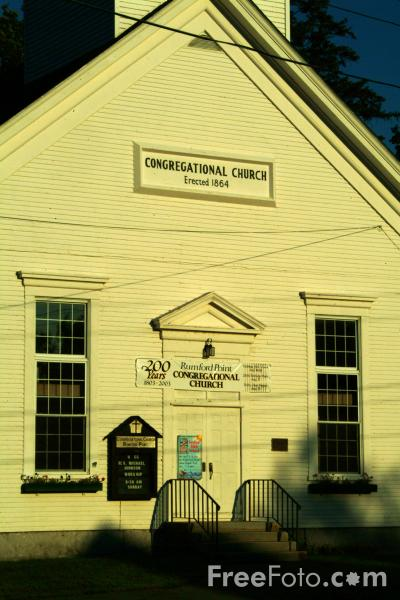 Picture of Congregational Church, Rumford Point, Maine, USA - Free Pictures - FreeFoto.com