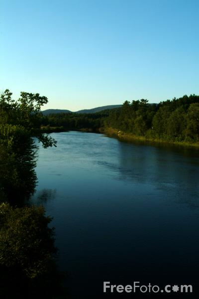 Picture of Rumford Point, Androscoggin River, Maine, USA - Free Pictures - FreeFoto.com