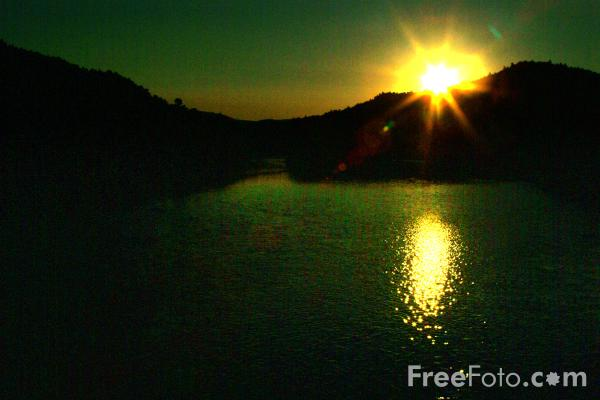 Picture of Sunset, Androscoggin River, Mexico, Maine, USA - Free Pictures - FreeFoto.com