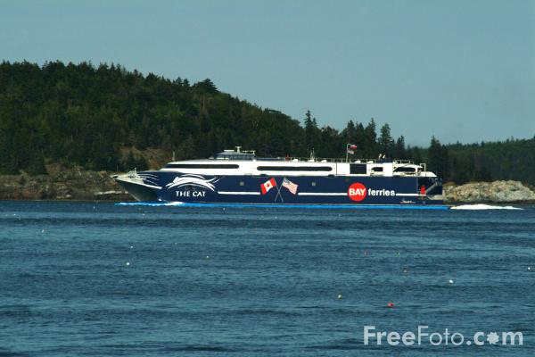 Picture of The Cat Car Ferry Service, Bar Harbor, Maine, USA - Free Pictures - FreeFoto.com