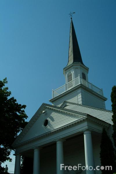 Picture of The Bar Harbor Congregational Church, Bar Harbor, Maine, USA - Free Pictures - FreeFoto.com