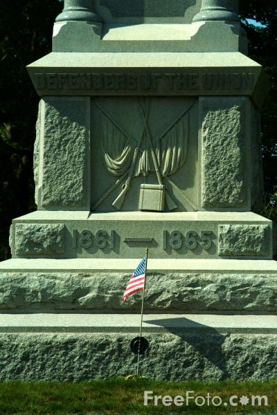 Picture of American Civil War Memorial, Bar Harbor, Maine, USA - Free Pictures - FreeFoto.com