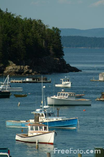 Lobster Boat, Bar Harbor, Maine, USA pictures, free use image, 1214-08-62 by FreeFoto.com