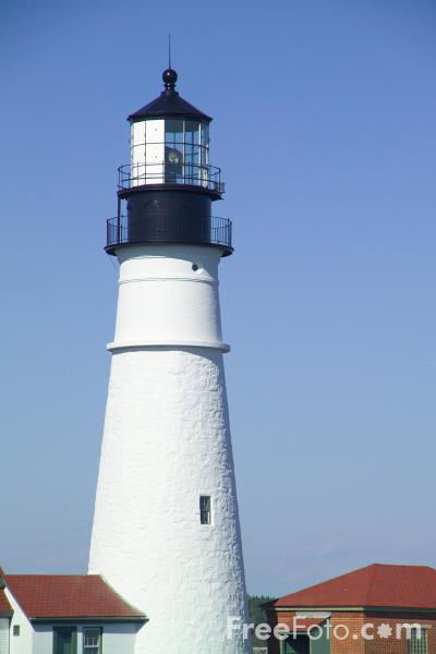 Picture of Portland Head Lighthouse, Cape Elizabeth, Maine - Free Pictures - FreeFoto.com