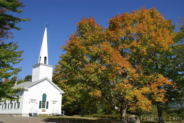 Picture of Hope Community Bible Church, Hope, Maine, USA - Free Pictures - FreeFoto.com