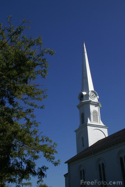 Picture of Chestnut Street Baptist Church, Camden, Maine - Free Pictures - FreeFoto.com