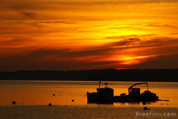 Picture of Sunrise, Lincolnville, Maine, USA - Free Pictures - FreeFoto.com